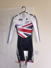 GB OFFICIAL Cycling Skin Suit / Podium Adidas Track Racing Skinsuit LS Womens