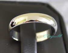 18K White Gold GP Silver Thumb Pinky Ring Wedding Band Stackable Engagement