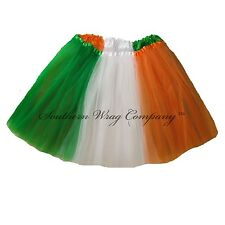 St PATRICKS DAY FLAG TUTU GIRLS TEEN ADULT LONG LENGTH 16 by Southern Wrag Co™