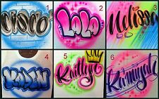 Custom Airbrushed Shirt With Name Design (Sizes 6 months - Adult 5XL)