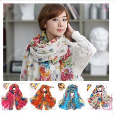 Fashion Women Long Georgette Polyester Scarf Wraps Shawl Stole Soft Scarves 6