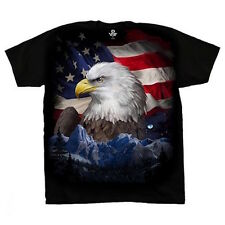 American Eagle Flag T-Shirt Freedom Flyer Tee Patriotic S M L XL 2XL NEW USA