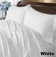 AU Size All Bedding Collection 1000TC Egyptian Cotton White Stripe Select Item
