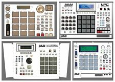 AKAI MPC Skin WHITE Decal ALL MODELS 500 1000 2000XL 4000 5000 Renaissance