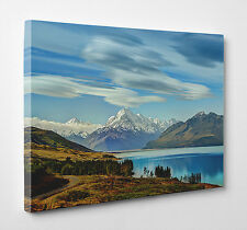 Lake New Zealand Mountains Photo Canvas Print Wall Art Ready to Hang A4 A3 A2 A1