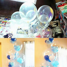 "20/50pcs 10"" Clear Transparent Latex helium Balloons Birthday Party Decoration"