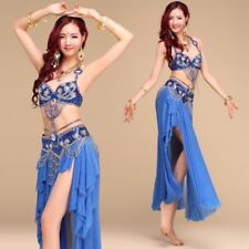 Performance Dress sets Bra Top+ Belt +Skirt Belly Dance 3pcs Costume 32A-38C