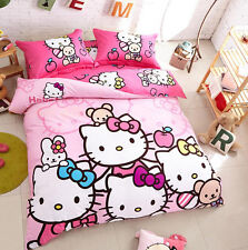 Cute For Hello Kitty Bedding Duvet Quilt Cover Bedding Set Twin Full Queen Size