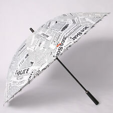 Men Creative Business 24k Strong Windproof Umbrella Straight newspaper printing