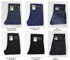 NEW LEE BROOKLYN  STRAIGHT & COMFORT BLACK/BLUE JEANS L30/L32/L34 ALL SIZE