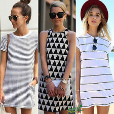 Fashion Summer Womens Casual Dress Beach Cover Cocktail Party Dresses Sundress