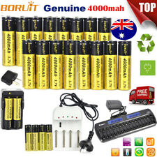 Rechargeable BORUIT 18650 3.7V 4000mAh Lithium Battery For Headlamp Flashlight