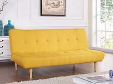 Modern Sofabed Brand New Fabric 3 Seater Padded Sofa Bed Suite Designer Wooden