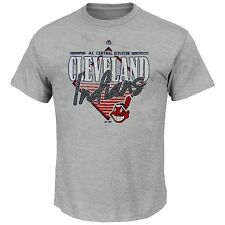 Cleveland Indians MLB Majestic Mens Walk Off Homer Shirt Gray Adult Size Large