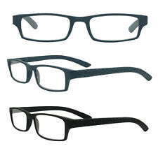 Black Reading Glasses Preppy Retro Mens Womens Ladies Spring Hinge Wayfarer Rim