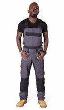 Dickies - Bib and Brace Dungarees - Grey / Black