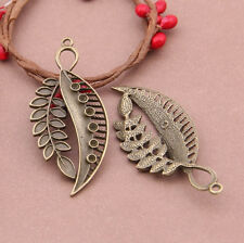 P1034 Wholesale Leaf Tibetan Silver jewelr accessories DIY Pendant 3-10pcs