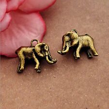 P1049 Wholesale Elephant Tibetan Silver jewelr accessories DIY Pendant 5-20pcs