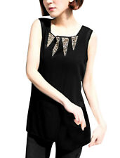 Ladies Newly Style Sequined Casual Tunic Tank Top