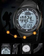Barometer Altimeter Thermometer Stopwatch Digital Fishing Watch 5ATM Unisex B5S4