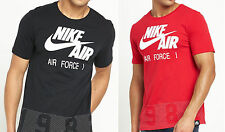 Nike Men's T-Shirt Since 1982 Air Force 1 Black & Red - All Sizes Available