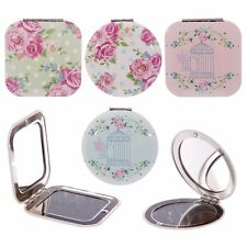 Laura Bell Chintz Floral Birdcage Round Square Metal Compact Mirror Ladies Gift