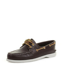 Womens Sperry Authentic Original A/O 2-Eye Brown Leather Boat Shoes UK Size