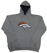 Denver Broncos NFL Mens Gray Pullover Hoodie Big & Tall Sizes