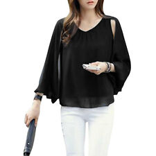 Women Pullover Sleeveless Round Neck Cape Style Layered Casual Blouse