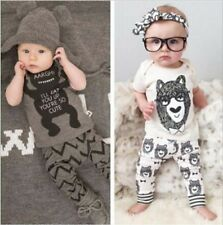 Outfits & Sets 2PCS Baby Boys Girls Short Sleeve T-Shirt +Pants Set Kids Clothes