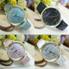 Fashion Geneva Women Watches Dress Watch Faux Leather Watch Analog Quartz Watch