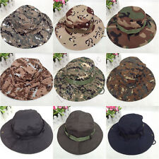 Hot Men Army Camo Hunting Fishing Hiking Outdoor Cap Bucket Hat Boonie Sun Hat