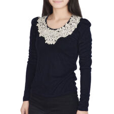 Ladies Scoop Neck Long Sleeve Form-fitting Casual Top Shirt