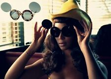 Retro LadyGaga Mickey Mouse Flip Up & Down Double Shade UV Protect Sunglasses