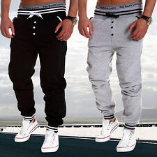 Men's Casual Harem Pants Sweatpants Drop Crotch Sports Trousers Jogging Pants