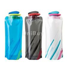 750mL Foldable Sports Water Bottle Bag BPA-Free Cycling Camping Hiking Reusable