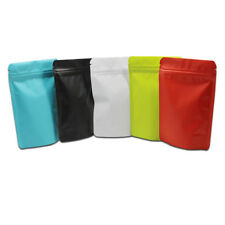 Matte Pure Aluminum Foil Stand Up Bags Pouches Zip Lock Bag Mylar Food Packaging