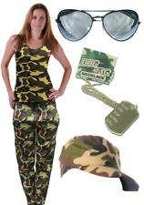 Army Vest Trousers Dog Tag Glasses Cap Hen Party Fancy Dress Ladies Paintball