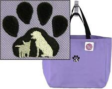 Paw Print Tote Bag Pet Adoption Dog Cat Monogram Rescue Puppy Kitten Kitty NWT
