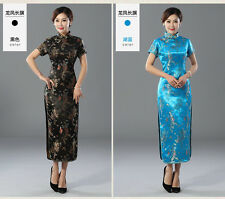 Gorgeous Chinese Women's Silk Evening Dragon Dress Cheong-sam