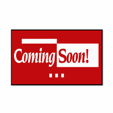 Coming Soon Red Corrugated Car Door Magnets Magnetic Signs-QTY 2