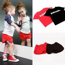 Toddler Infant Kids Baby Boy Girl T-shirt Tops Shorts Pants Outfits Clothes 1-6Y
