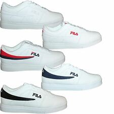 Mens Fila Vulc 13 Lo Top Leather Casual Athletic Sneakers Shoes F13 White NIB