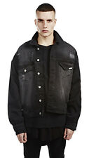 2016 Fashion Casual mens black Motorcycle Denim Jacket Basic Coat  vintage XL