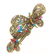Newest Pretty Girls Retro Crystal Butterfly Flower Hairpins Hair Stick Hair Clip