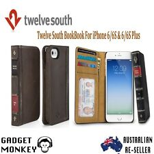 Twelve South BookBook Leather Wallet Case For iPhone 6/6S & 6/6S Plus - Blk/Bro