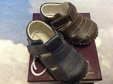 Pediped Originals Ross Leather V Fisherman Sandals Size Newborn to 24 Months