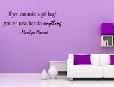 Wall Decal Quote If You Can Make a Girl Laugh You Can Make Her Do Anything Sign