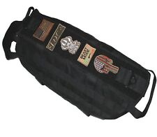 TACTICAL DOG VEST HARNESS K9 HUNTING TRAINING MOLLE MILITARY ARMY PATCH BLACK