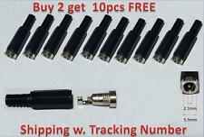 10 pack 2.1mm x 5.5mm female DC power plug connectors for CCTV security camera